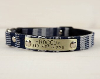 Ethnic Cat Collar, Small Dog collar, Cat Collar, Cat Collar Breakaway, Personalized cat collar, Breakaway Collar, blue cat collar