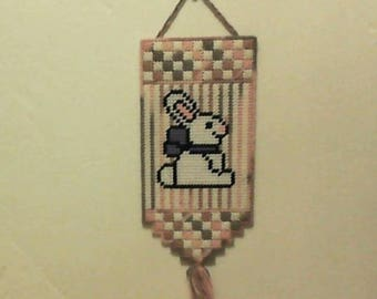 Easter Bunny, Wall hanging, door, plastic canvas