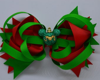Disney JOY Christmas Ornament - Hair Bow Clip - 12.5cm