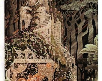 Original 1975 Vintage Kay NIELSEN ART DECO Nouveau Print Book Plate