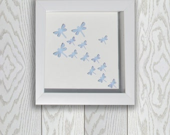 3D Dragonfly Art with Custom Colors- 6 x 6