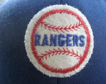 Texas Rangers Ballcap with 1970's Era Vintage Felt Patch