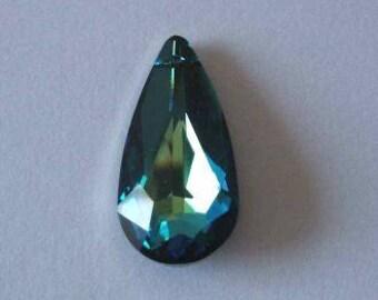 1 SWAROVSKI 6100 Teardrop Pendant Crystal 24mm BERMUDA BLUE