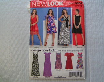 NEW LOOK Pattern 6864 Dress design your look