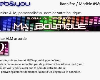 Custom banner, avatar and shop 'Music'