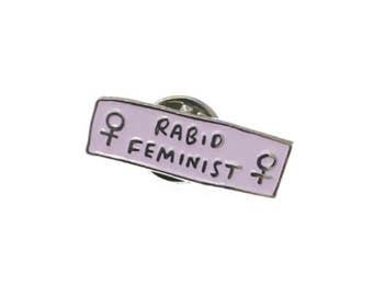 Pink Rabid Feminist Soft Enamel Lapel Pin Badge