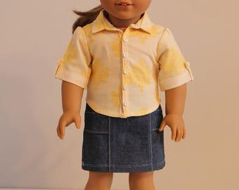 Yellow Striped Button Up Shirt