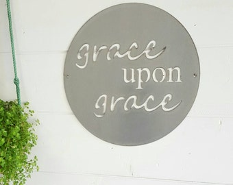 15 inch grace upon grace sign
