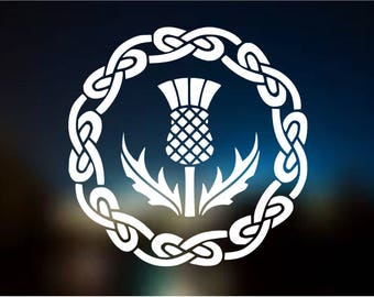 Outlander Thistle with Celtic Knots Vinyl Decal Sticker