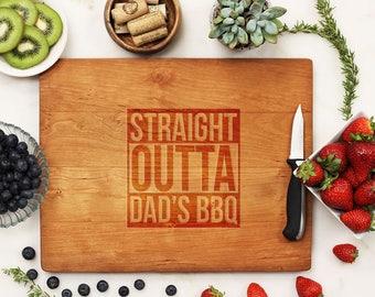 Personalized Cutting Board, Custom Cutting Board, Engraved Cutting Board, Father's Day Dad BBQ Grill Cherry Wood --21202-CUTB-003