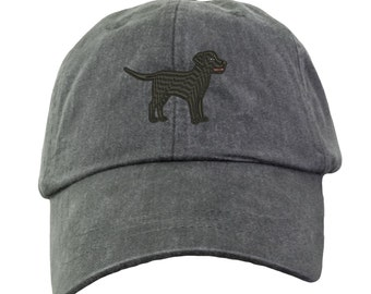 Black Labrador Retriever Baseball Hat - Embroidered. Lab Mom Baseball Hat. Lab Dad Hat. Labrador Hats.  Labrador Gifts. Black Lab. HER-LP101