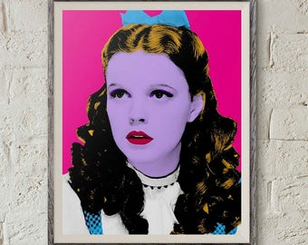 Dorothy Wizard of Oz, Wizard of Oz Poster, Judy Garland, Pop Art Portrait, Printable Art,Wizard of Oz Art,Andy Warhol Art,Wizard of Oz Decor