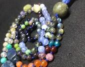 Gemstone Tassel Necklace,...