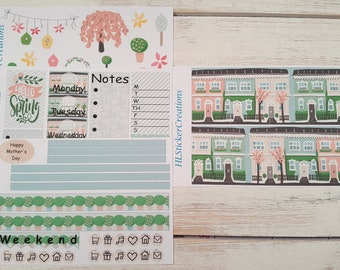 Happy Planner May Weekly Kit, Spring, May, Spring Town, Town,