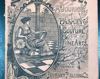 The DELINEATOR June 1891 Issue, Late Victorian Fashion, Lifestyle, Magazine, History, Costuming, Historical, Clothing, Style, Sewing
