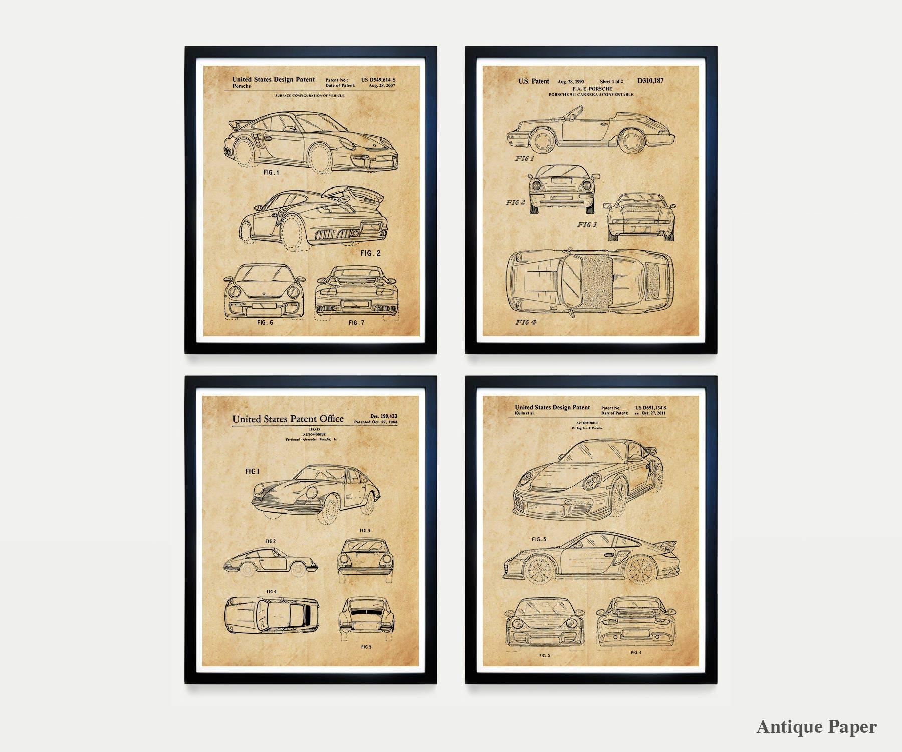 Porsche Poster - Porsche Patent - Porsche Carrera - Car Art - Car ...