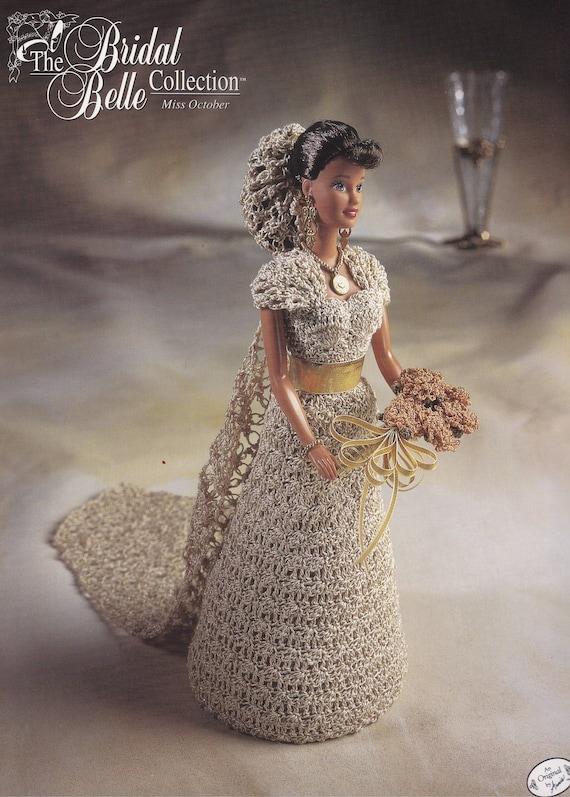 Miss Oktober Annie Attic Braut Belle häkeln Mode Puppe