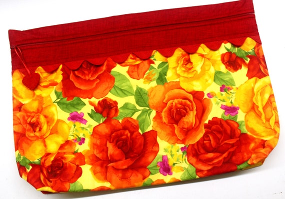 LOTS2LUV Giant Roses Cross Stitch Project Bag