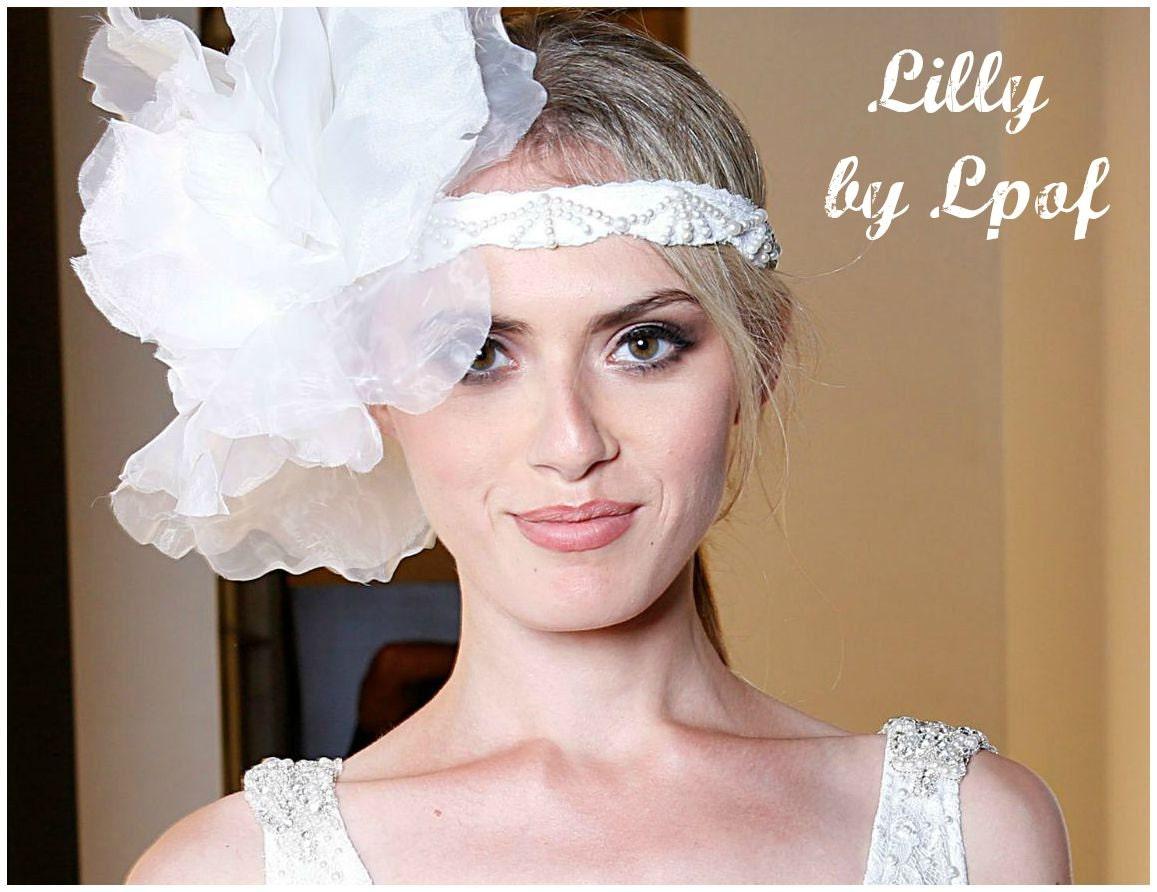 Weddings White Flower Hairpiece Flower Crown Floral Headband