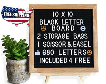 10x10 Felt Letter Board w/ 680 Letters | Mothers Day Gift | Message Board | Office Gift  |  Gift For Women | Gift For Her |  Wedding Gift
