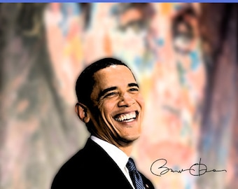 Barack Obama Poster Not A Liberal Or Conservative America Quote Wall Art Print