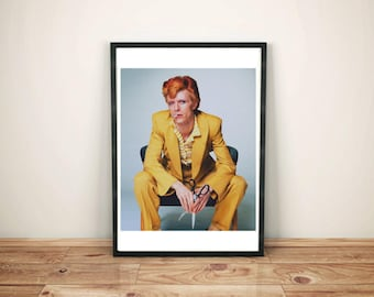 David Bowie Print- David Bowie Poster- Classic David Bowie Photo