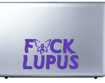 F*ck Lupus Decal with butterfly - FREE US SHIPPING