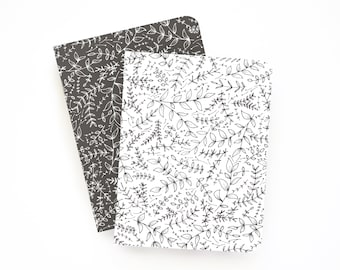 Pocket Journal Set of 2 | Illustrated Small Notebooks with Lined Pages: Seeded Pocket Journal Set