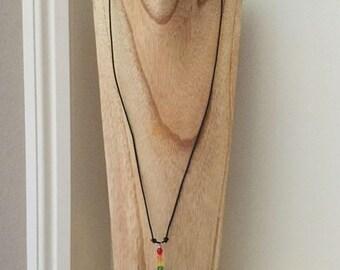 Pet Sympathy Necklace, Rainbow Bridge, Czech Beads, In Loving Memory, Memorial Jewelry, Made in CA