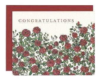 Roses Congratulations Card