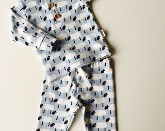 Baby boy blue sheep pajama