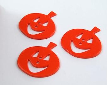 Jack O' Lantern/ Halloween Pumpkin Novelty Buttons (4pack) [B0415]