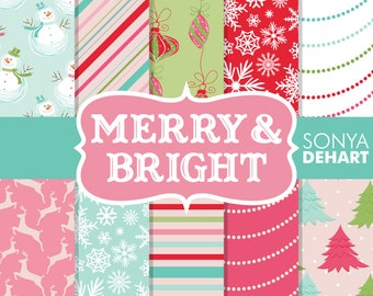 80% OFF SALE Christmas Digital, Christmas Background, Holiday Papers, Holiday Backgrounds, Snowflake Patterns, Christmas Papers
