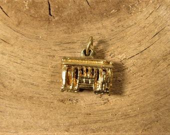 Trolley Street Car Charm - Vintage San Francisco Gold Plated