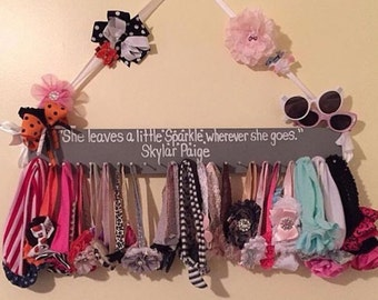 Gray Headband Rack, Headbands, Bows, Nursery Accessories, Baby Girls, Nursery Decor, Girl Items