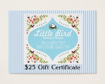 Twenty Five (25) Dollar Gift Certificate