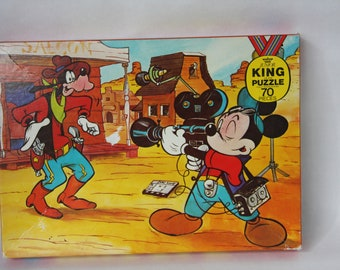 Vintage Puzzle Mickey Mouse and Goofy