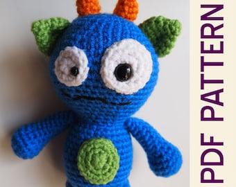 Amigurumi Crochet Silly Monster Buddy Toy PDF Pattern