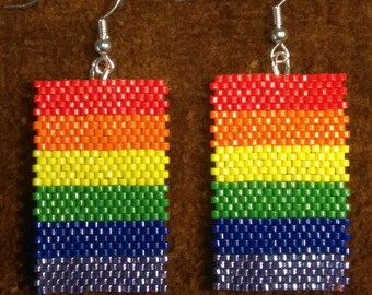 Love The Rainbow--Pride Earrings Red Orange Yellow Green Blue Purple