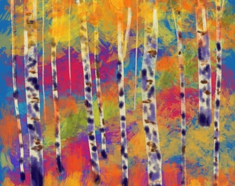 Abstract Autumn Forest-1