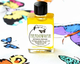 Meadow & Fir - Botanical Perfume - Holiday Tree - Wildflowers, Fir, Amber, Moss - Organic - Vegan - 5 ml glass jar