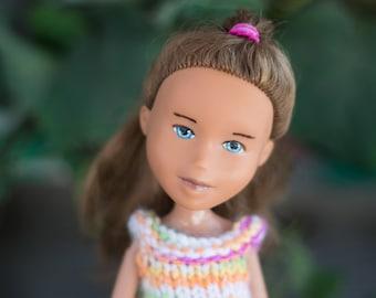 Cora from Grapevine Girls  ( Bratz  makeunder repaint change ooak art dolls with handmade knit doll clothes) Hug a doll, Hug a tree!