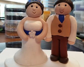 Polymer Clay - Customized Wedding cake topper