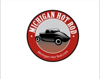 Michigan Hot Rod Decal/Sticker