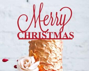 Merry Christmas Cake Topper (MIC-FJM9821)