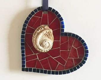 Handmade Mosaic Heart Ornament
