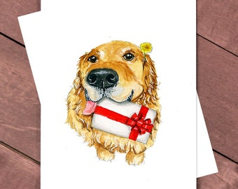 You Got Gift, Gift Card Holder. Funny Golden Retriever Birthday Card, Cash Gift Envelope Birthday Gift For Children Graduation Gift For Her