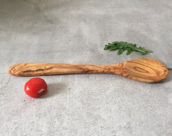 Cooking Spoon / Olive Wood Spoon / Wooden Spoon / Large Spoon / Farmhouse Spoon / Boho Spoon / Hand Carved Spoon, 12''