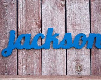 Jackson Wooden Name Sign, Nursery Decor, Wooden baby name sign for nursery