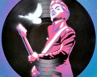 "Prince Stencil on 12"" Vinyl Record"